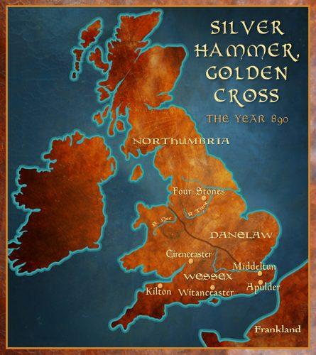 Silver Hammer, Golden Cross England 890 Map