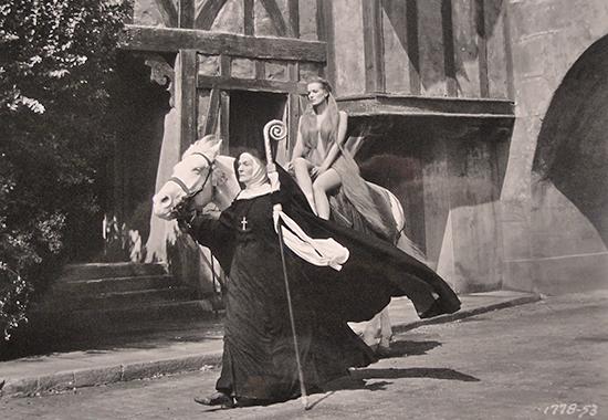 Maureen O'Hara as Lady Godiva, 1955