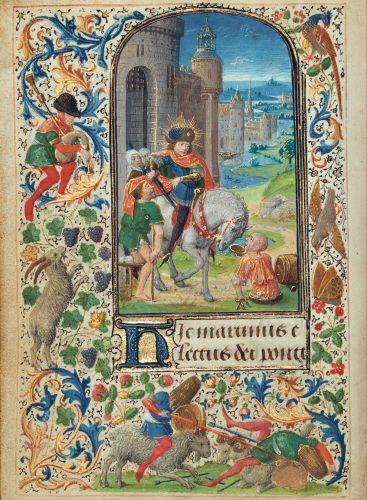 Saint Martin Dividing his Cloak - Lieven van Lathem, Flemish