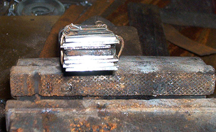 A short stack 15-layer billet with iron core