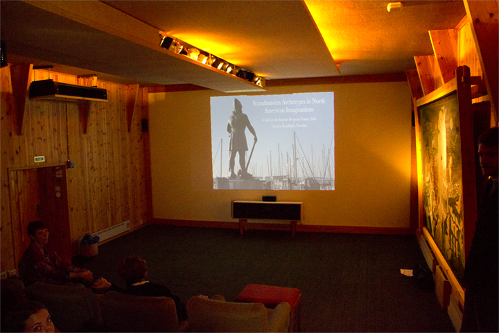 The interior of Biografen, Ingmar Bergman's private cinema, before my talk.