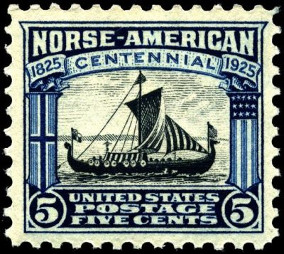 Viking Ship Postage Stamp