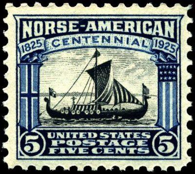 Viking Ship Postage Stamp