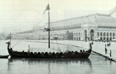 Viking, replica of the Gokstad Viking ship, at the Chicago World Fair 1893