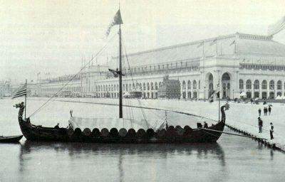 Viking, replica of the Gokstad Viking ship, at the Chicago World Fair 1893