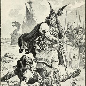 19th c Winged Viking