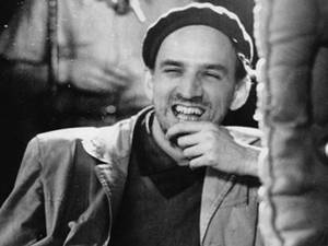Ingmar Bergman laughing