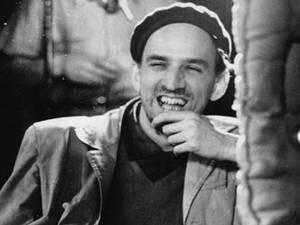 Ingmar Bergman laughing