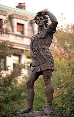 Detail Boston Leif Erikson Statue