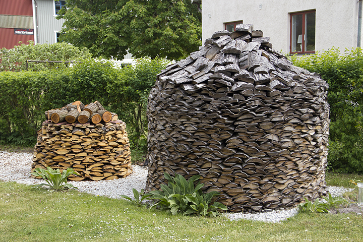 Two Domed Wood Stacks