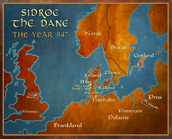 Sidroc the Dane: Map of Scandinavia and England 847