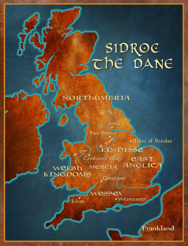 Sidroc the Dane: Map of England 847