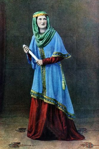 Anglo-Saxon Costume with angled hem