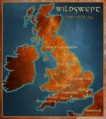 Wildswept: Map of England 893