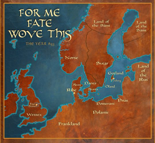 For Me Fate Wove This: Map of Scandinavia and England 893